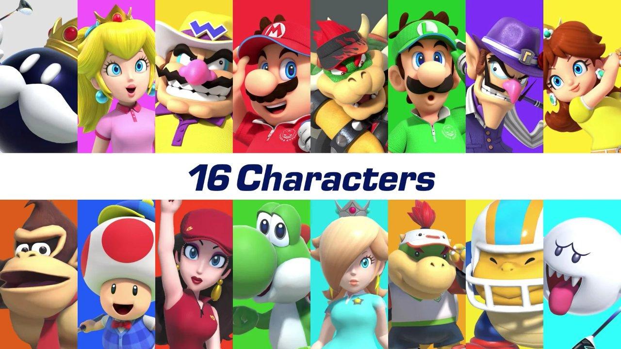 Mario-Golf-Super-Rush-Charaktere